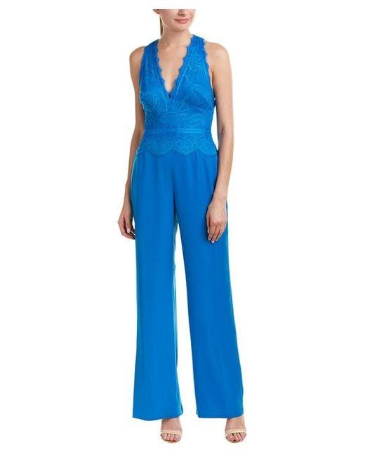 42eec026081b Tadashi Shoji - Blue Jumpsuit - Lyst ...