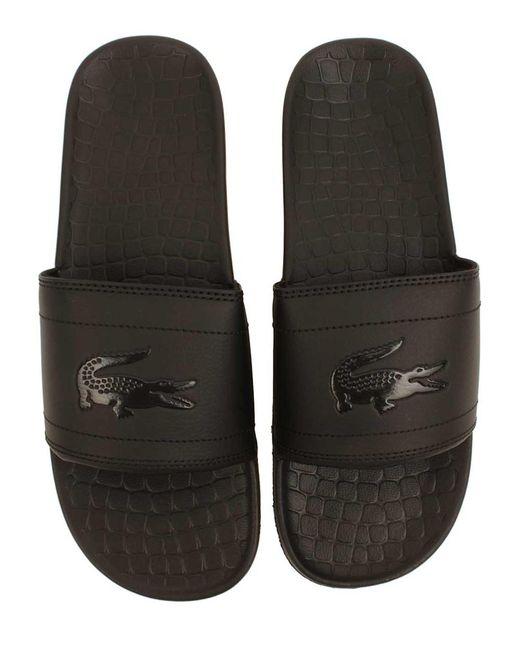 8c8e89c0b83cd ... Lacoste - Black Men s Fraisier 118 Slide Sandal for Men - Lyst