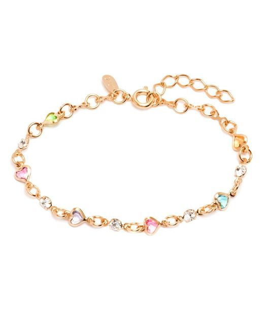 Peermont - Metallic Gold & Crystal Heart Bracelet - Lyst