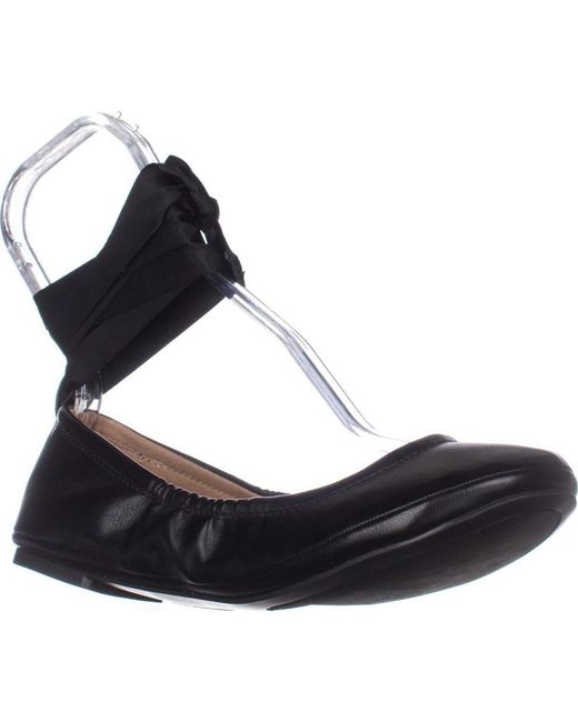 Call It Spring - Black Conboy Tie Up Ballet Flats - Lyst