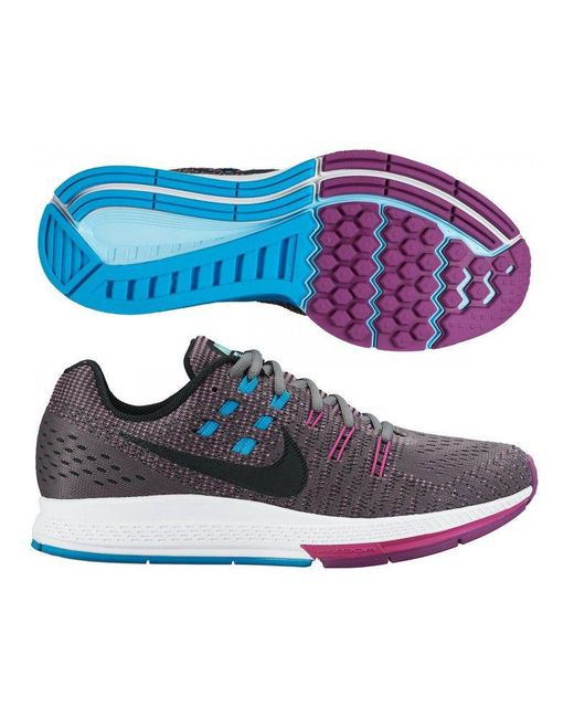 67f5ddf378601 Nike - Gray Womens Air Zoom Structure 19 Cool Fabric Low Top Lace Up Running  Sneaker ...
