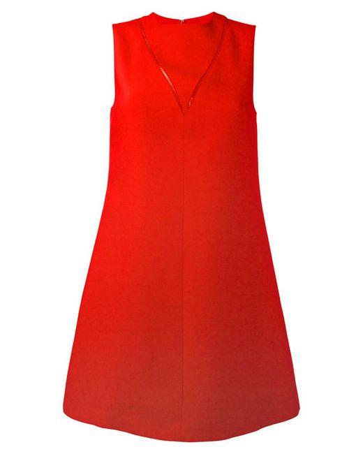 Valentino - Women's Red Cotton Dress - Lyst