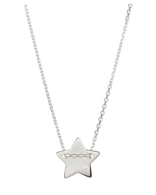 Adornia - Metallic Sterling Silver And Diamond Star Necklace - Lyst