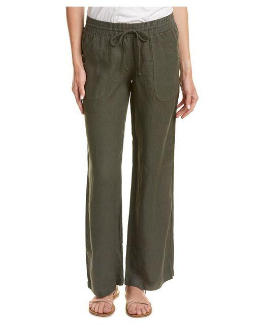 Allen Allen | Green Linen Pant | Lyst