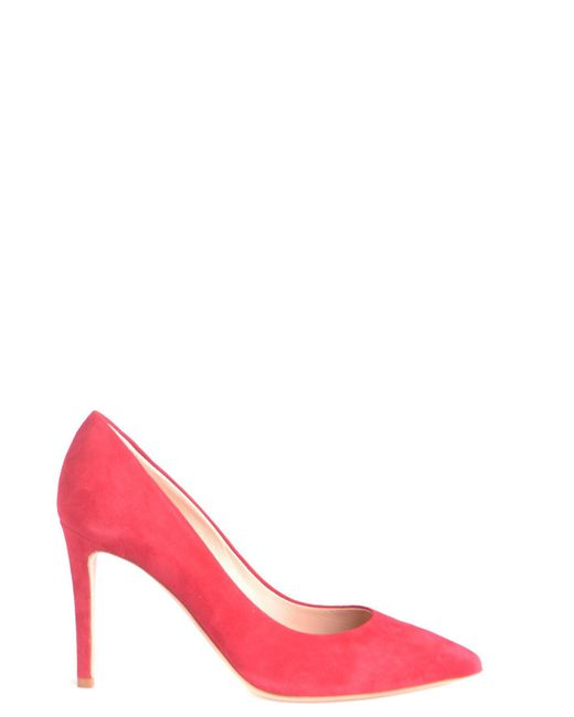 Ninalilou - Women's Red Suede Pumps - Lyst