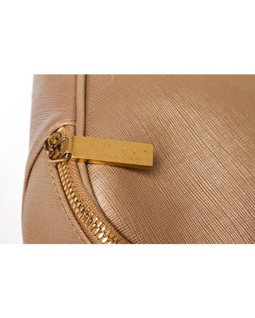 73b1ccd4e8ae ... Ferragamo - Natural Beige Leather Laptop Document Holder - Lyst ...