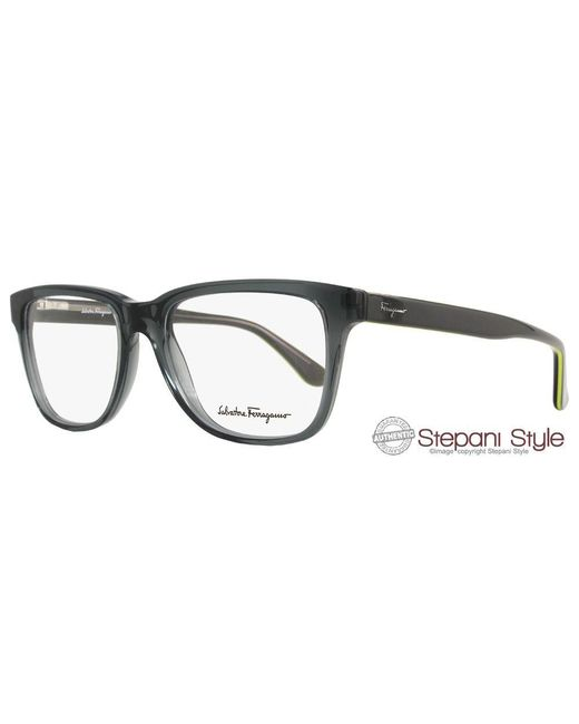 Ferragamo - Multicolor Eyeglasses Sf2671 024 Size:52 Translucent Dark Gray 2671 for Men - Lyst
