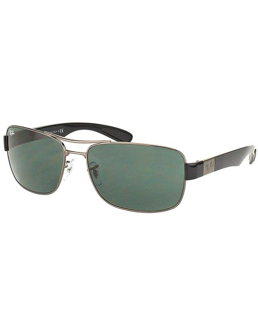 Ray-Ban - Green Aviator Metal Sunglasses - Lyst