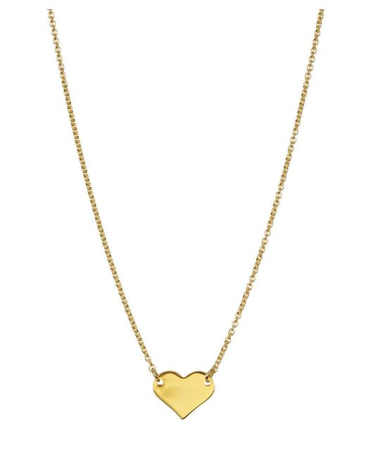 Adornia - Yellow Gold Vermeil Mini Heart Necklace - Lyst