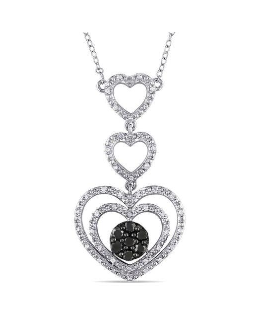 Catherine Malandrino - Metallic Heart Tiered Necklace - Lyst