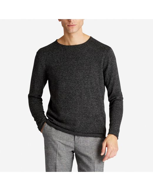 Bonobos Cotton Cashmere Roll Neck Sweater in Gray for Men | Lyst