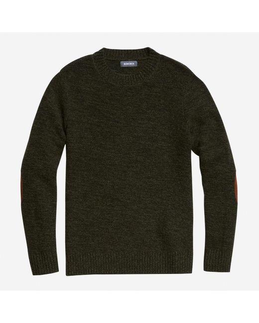 Bonobos Lightweight Wool Crew Neck Sweater in Green for Men | Lyst