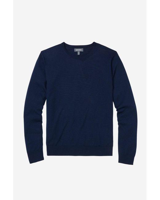 Bonobos - Blue Washable Merino Crew Neck Sweater for Men - Lyst