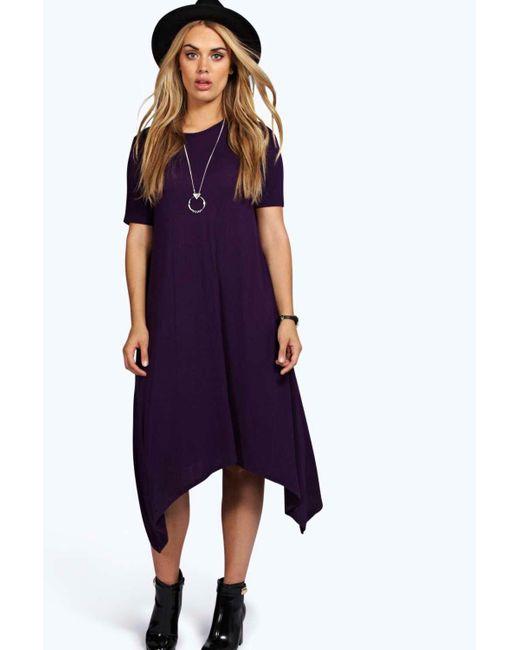 Plus Hanky Hem Swing Dress