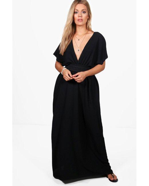 7cb0a3e96862 Boohoo - Black Plus Plunge Beach Maxi Dress - Lyst ...