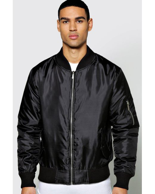 Boohoo | Black Ma1 Bomber Jacket for Men | Lyst