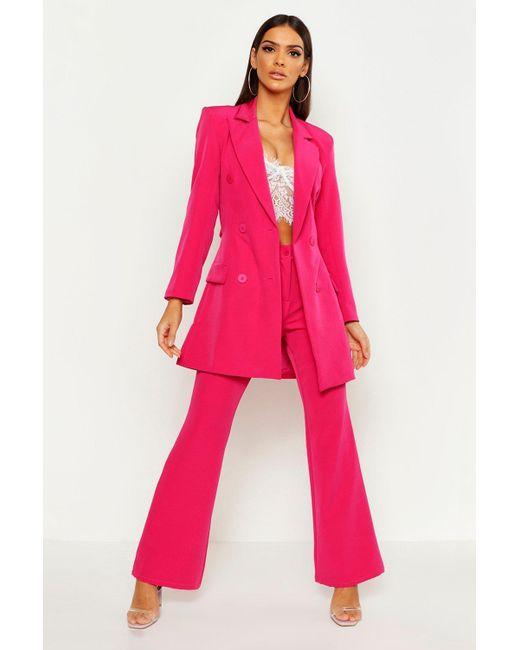 caaa8c84a84e Boohoo - Pink Straight Leg Trouser - Lyst ...
