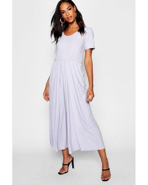 6963d87c87e Boohoo - Metallic Tall 3⁄4 Sleeve Split Leg Culotte Jumpsuit - Lyst ...