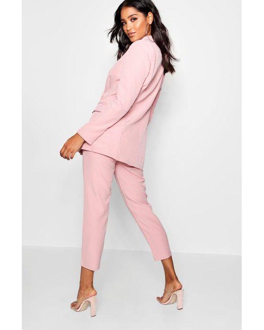 87699b12d27a ... Boohoo - Pink Straight Leg Pocket Detail Trousers - Lyst ...