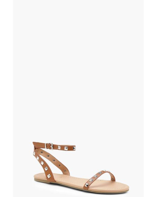 Boohoo - Multicolor Studded Two Part Sandals - Lyst