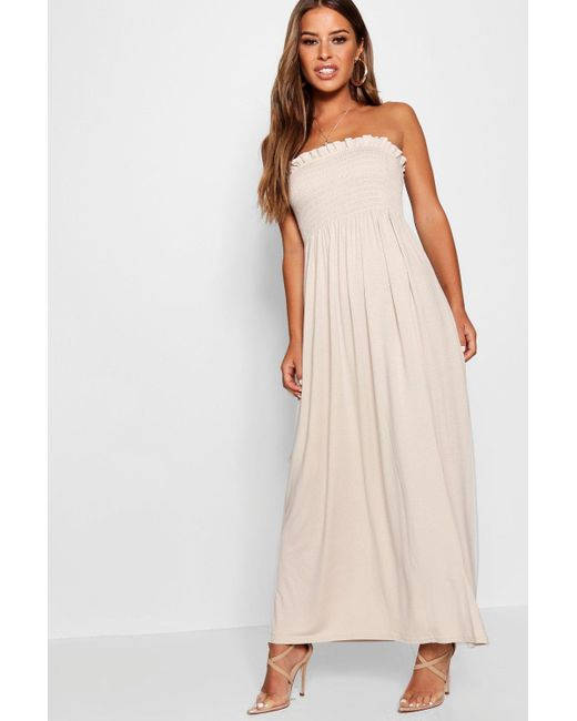 Boohoo - Multicolor Petite Bandeau Maxi Dress - Lyst