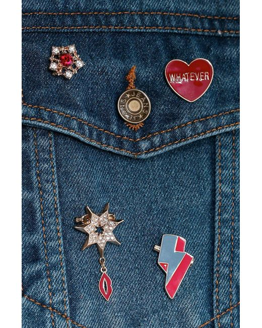 Boohoo | Metallic Missy Heart And Military Inspired Badges | Lyst