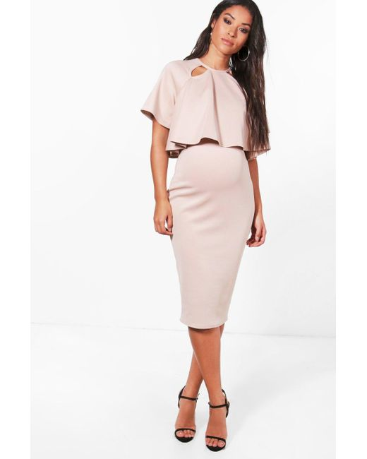 Boohoo - Multicolor Maternity Double Layer Wiggle Dress - Lyst