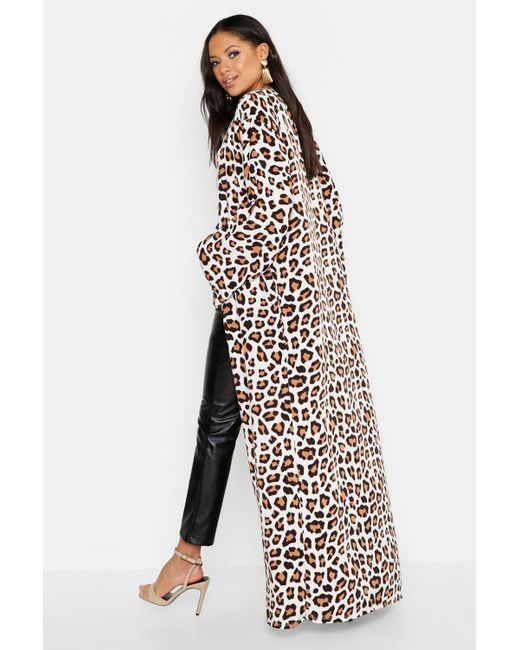 8623e1ea6d ... Boohoo - Multicolor Tall Leopard Print Kimono - Lyst