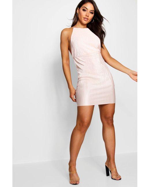 Boohoo - Multicolor Pleated Open Side Bodycon Dress - Lyst ... 24809988f