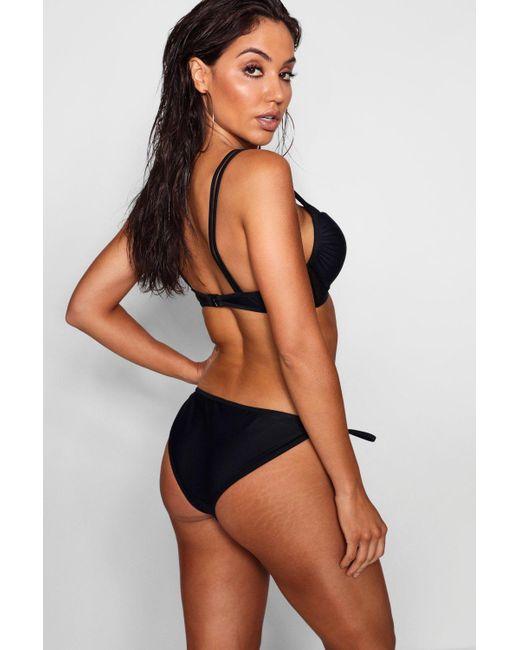 223d7f5a1f ... Boohoo - Black New Mesh Underwired Bikini - Lyst ...