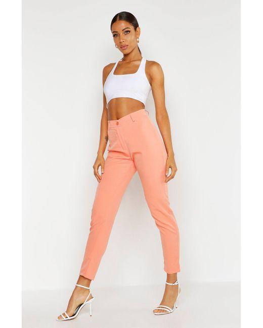 93fc1e0a9231 Boohoo - Orange Tapered Pants - Lyst ...