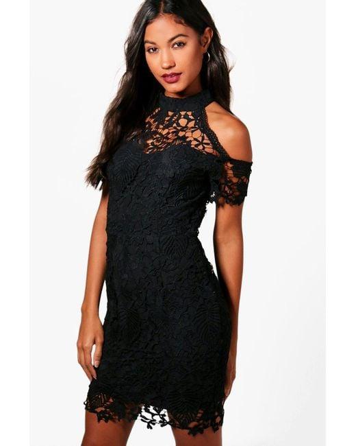 Boohoo   Black Boutique Vera Corded Lace Midi Dress   Lyst