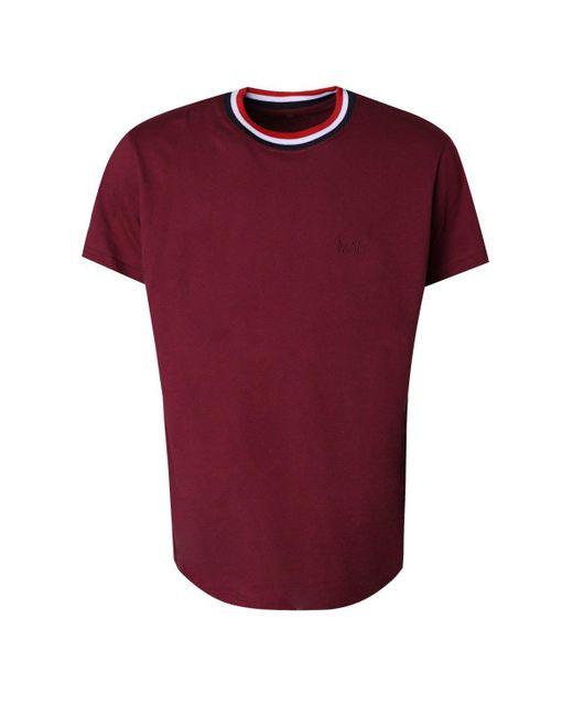 lyst boohoo big and tall sports rib man t shirt in red