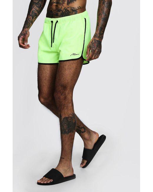 9f13a485c36f7 BoohooMAN - Multicolor Man Signature Runner Swim Short for Men - Lyst ...