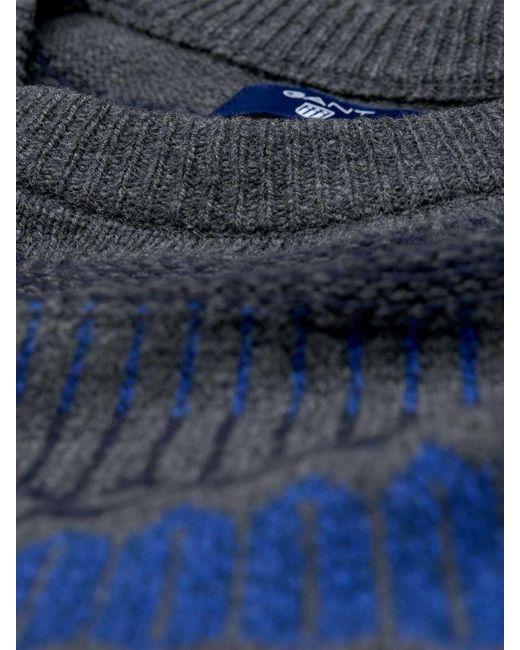 Gant O2. Fairisle Holiday Crew in Blue for Men | Lyst