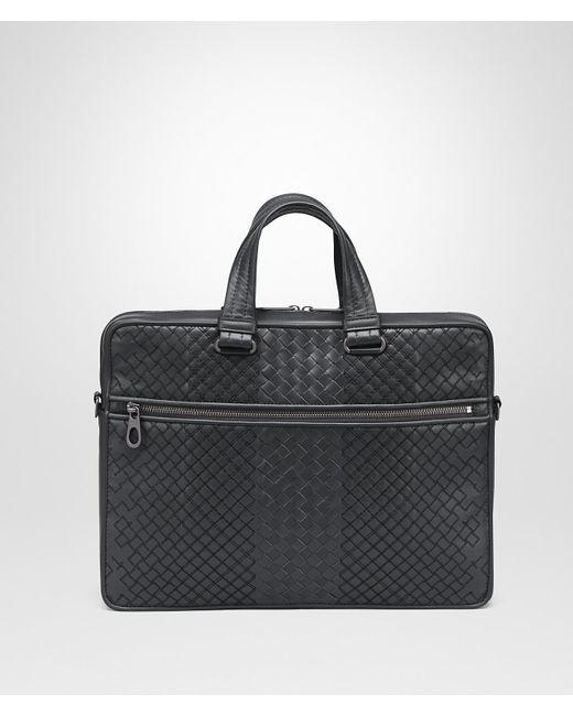 33b9e33bbeaa Bottega Veneta - Black Ardoise Intrecciato Aurelio Calf Briefcase for Men -  Lyst ...