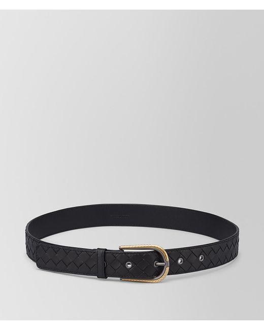 Bottega Veneta - Black Belt In Intrecciato Nappa - Lyst