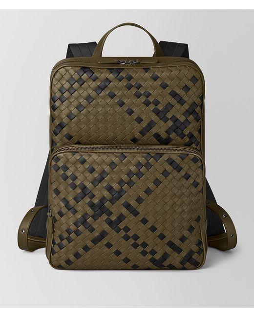 1475bd950f34 Bottega Veneta - Green Double Brick Intrecciato Backpack for Men - Lyst ...