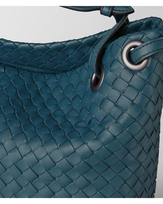 a53d205782a4 ... Bottega Veneta - Blue Small Garda Bag In Intrecciato Nappa - Lyst ...