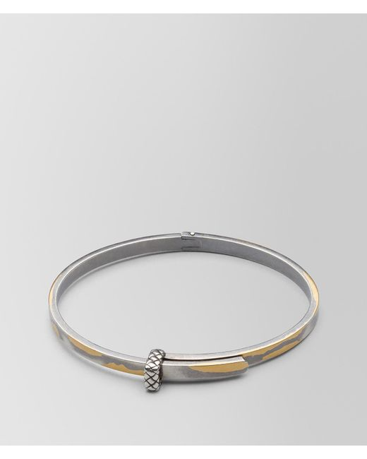 Bottega Veneta - Metallic Antique Silver/yellow Gold Patina Bracelet - Lyst