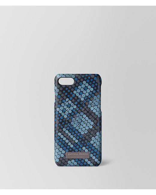 c54e3d1abc59 Lyst - Bottega Veneta Hi-tech Case In Tartan Dots in Blue for Men ...