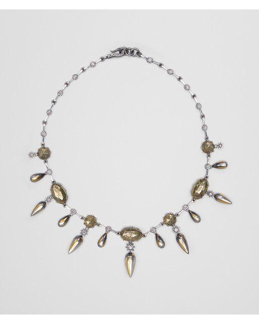 Bottega Veneta - Metallic Natural Antique Silver Stellular Necklace - Lyst