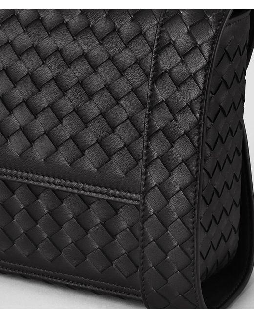 ... Bottega Veneta - Black Nero Intrecciato Nappa Alumna Bag - Lyst ... 75b40a4661582
