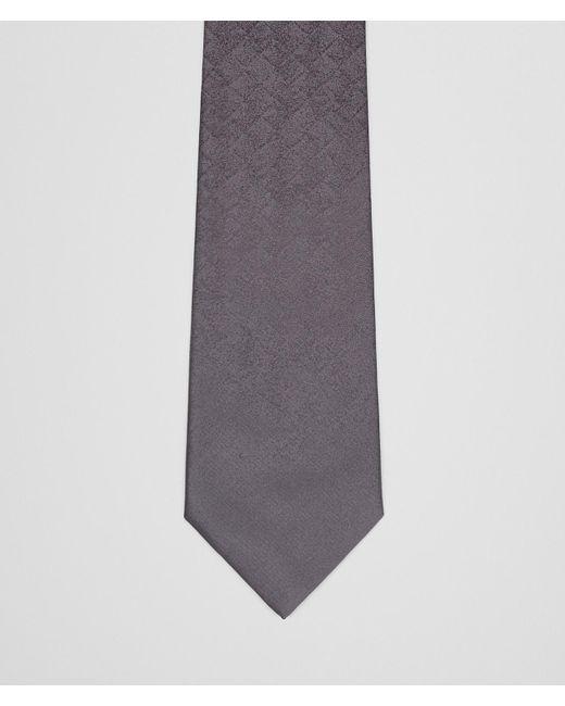 Bottega Veneta - Gray Tie In Anthracite Black Silk for Men - Lyst