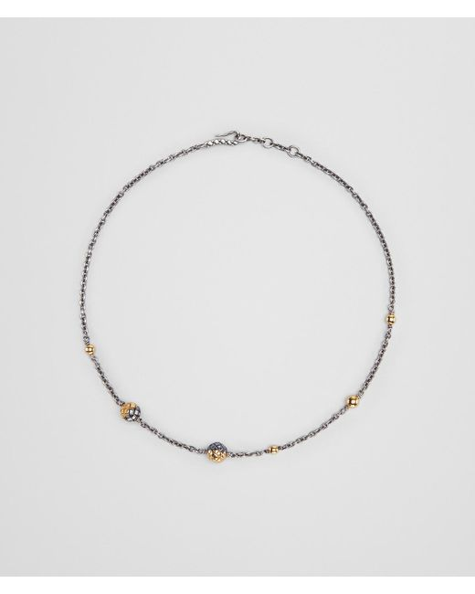 Bottega Veneta - Metallic Antique Silver/yellow Gold Patina Dichotomy Necklace - Lyst