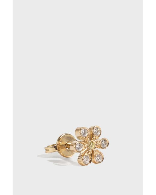 Sophie Bille Brahe - Multicolor Marguerite Floral Earring, Size Os, Women, Y Gold - Lyst