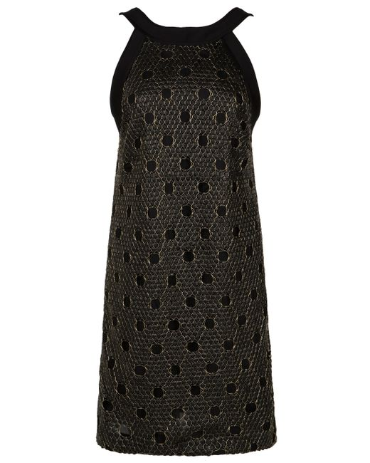 Martin Grant | Black Sequin Embroidered Dress | Lyst