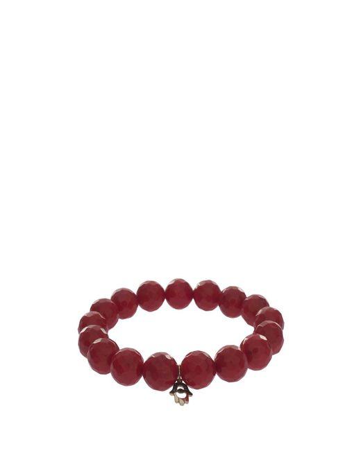 Sydney Evan - Diamond Hamsa Charm Bracelet, Size Os, Women, Red - Lyst