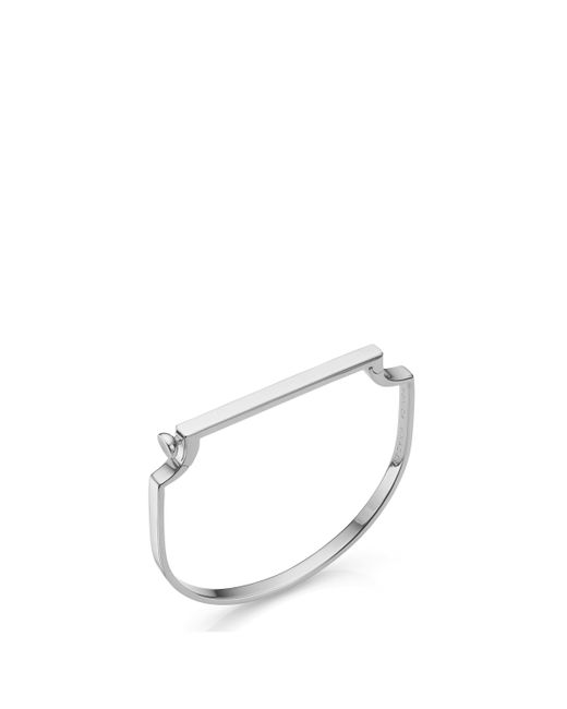 Monica Vinader - Signature Thin Bangle, Size Os, Women, Metallic - Lyst