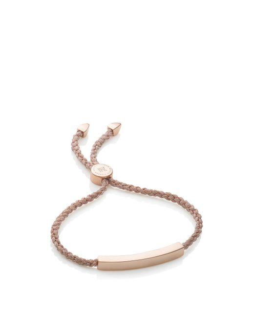 Monica Vinader - Rp Linear Friendship Bracelet - Rose Gold Metallica, Os - Lyst